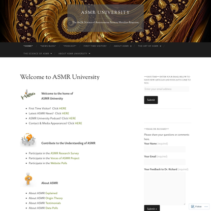 Welcome to ASMR University