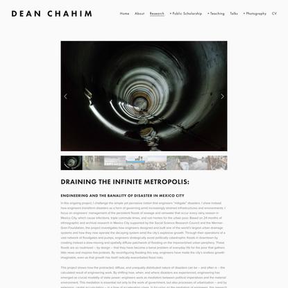 Research — Dean Chahim