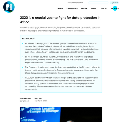 2020 is a crucial year to fight for data protection in Africa