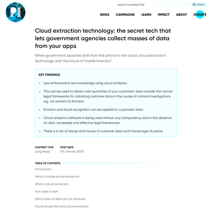 Cloud extraction technology: the secret tech that lets government agencies collect masses of data from your apps