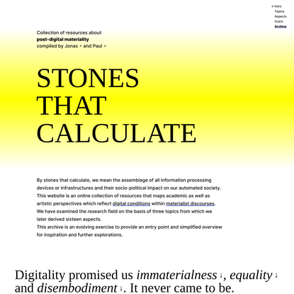 Stones that calculate