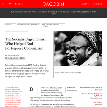 The Socialist Agronomist Who Helped End Portuguese Colonialism