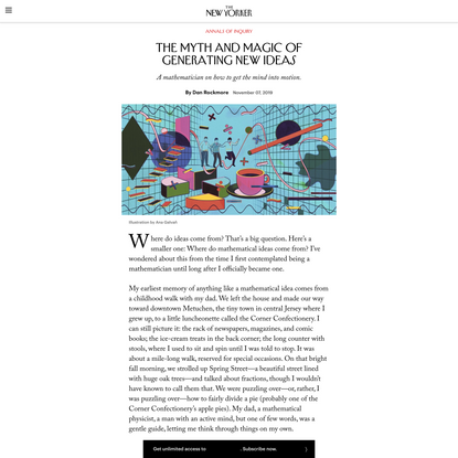 The Myth and Magic of Generating New Ideas   The New Yorker