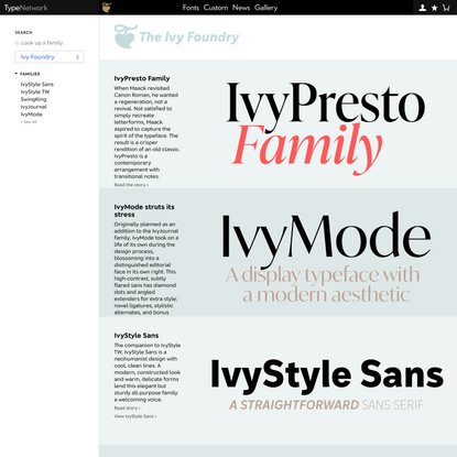 Ivy Foundry on Type Network