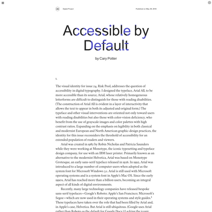 Triple Canopy – Accessible by Default by Cary Potter