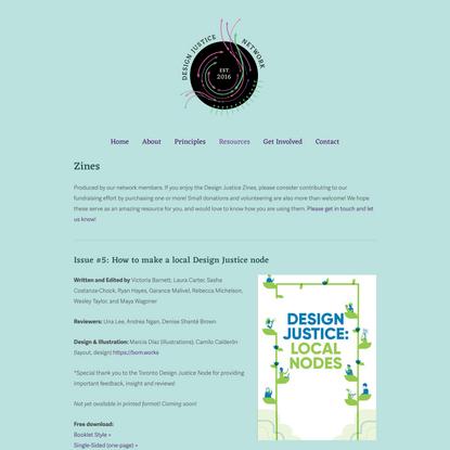 Zines — Design Justice Network