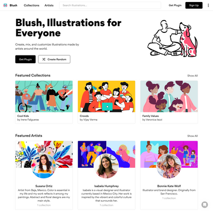 Blush: Illustrations for everyone