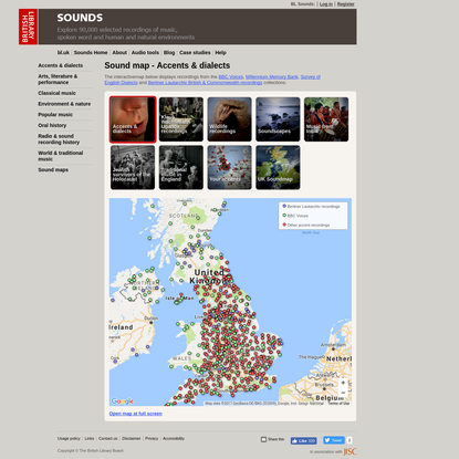 Sound map - Accents & dialects | British Library - Sounds