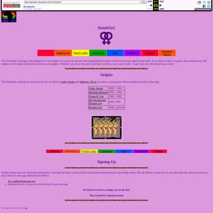 SistahNet Web Page