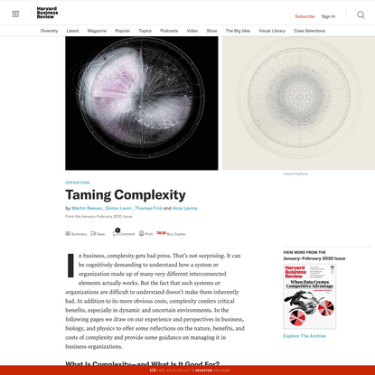 Taming Complexity
