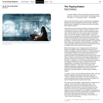 Harvard Design Magazine: The Tripping Subject