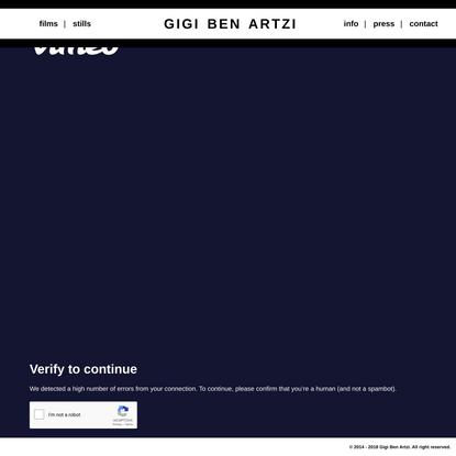 Gigi Ben Artzi - Film Director // Photographer