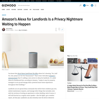 Amazon's Alexa for Landlords Is a Privacy Nightmare Waiting to Happen