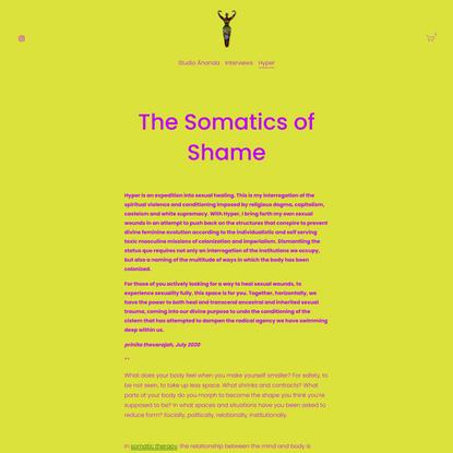 The Somatics of Shame — Studio Ānanda