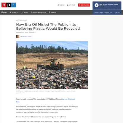 How Big Oil Misled The Public Into Believing Plastic Would Be Recycled