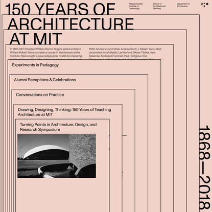 150 Years of Architecture at MIT | MIT Architecture