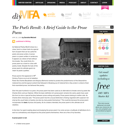 The Poet's Revolt: A Brief Guide to the Prose Poem - DIY MFA