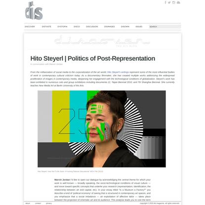 Hito Steyerl | Politics of Post-Representation