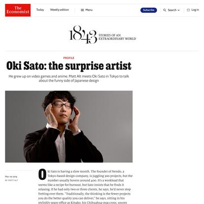 Profile - Oki Sato: the surprise artist   1843   The Economist