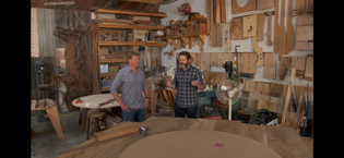 Nick Offerman's workshop