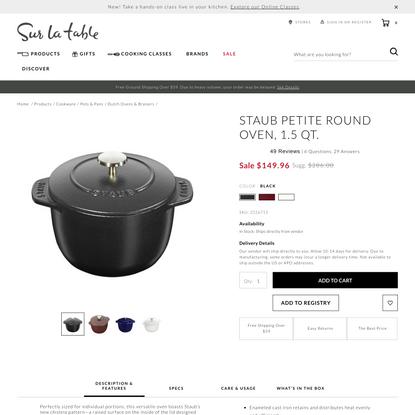 Staub Petite Round Oven, 1.5 qt. | Sur La Table