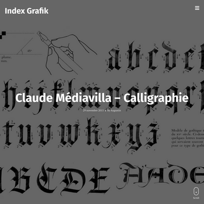 Claude Médiavilla – Calligraphie