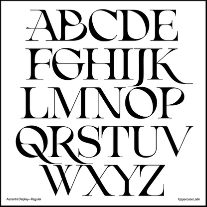 """Emily Jing Sum Chan's Instagram photo: """"I'm beyond excited to finally share with you my finished typeface: Ascentis ✨ Ascent..."""