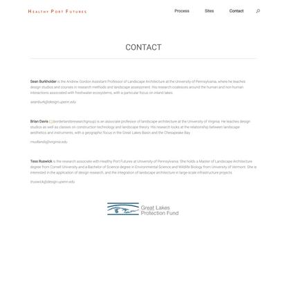 Contact – Healthy Port Futures