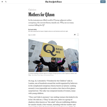 Opinion | Mothers for QAnon