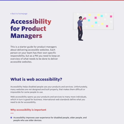Accessibility for Product Managers