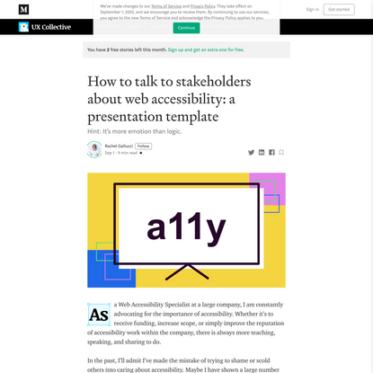 How to talk to stakeholders about web accessibility: a presentation template