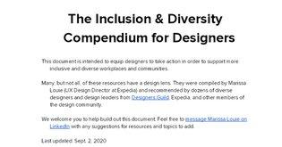 The Inclusion & Diversity Compendium for Designers