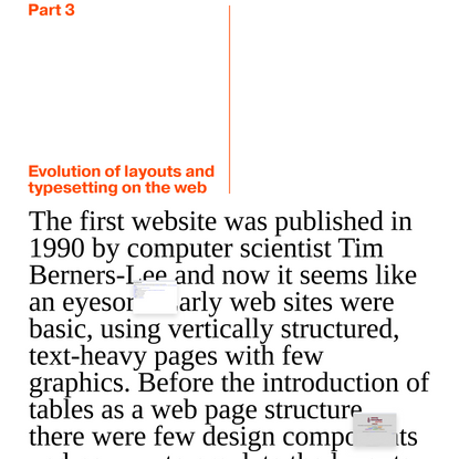 'Evolution of layouts and typesetting in the web' from 'Read Me: Magazine' by Readymag Templates