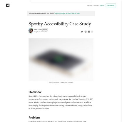 Spotify Accessibility Case Study