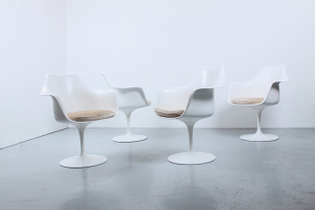 knoll international set white vintage tulip chairs seventies eames
