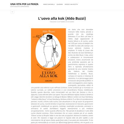 L'uovo alla kok (Aldo Buzzi) – UNA VITA PER LA PANZA
