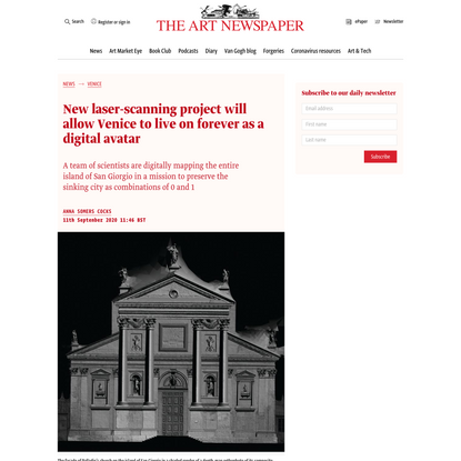 New laser-scanning project will allow Venice to live on forever as a digital avatar