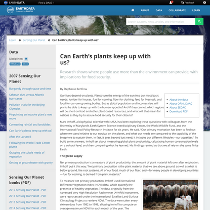 Can Earth's plants keep up with us? | Earthdata