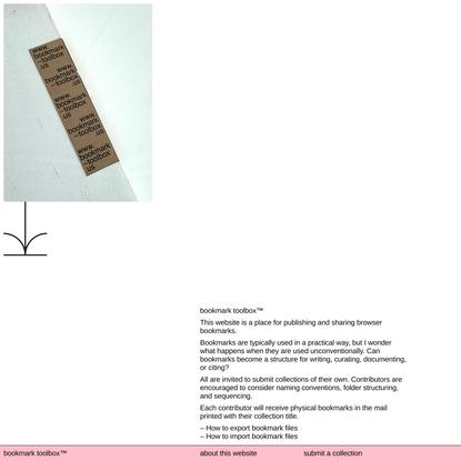 bookmark toolbox