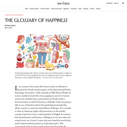 The Glossary of Happiness