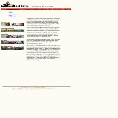 Art Farm artist residency and application information
