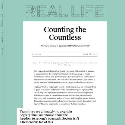 Counting the Countless — Real Life