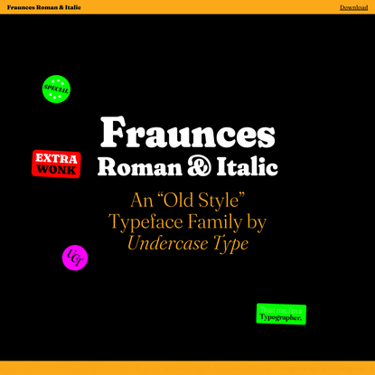 Fraunces by Undercase Type