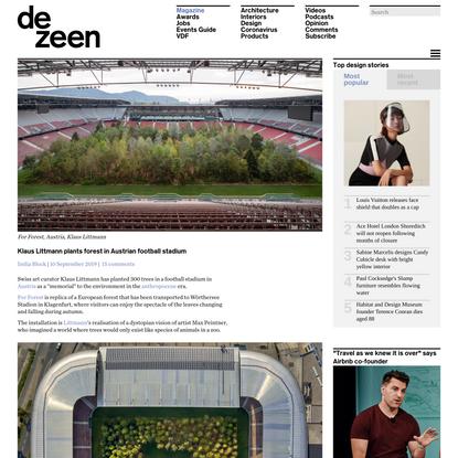 Klaus Littmann plants forest in Austrian football stadium