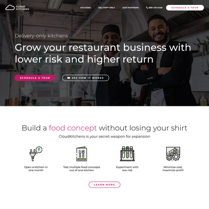 Commercial Kitchens Optimized for Delivery | CloudKitchens