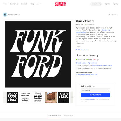 Funkford by Dave Coleman - Future Fonts