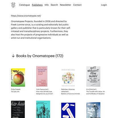 Vice Versa Art Books - Onomatopee