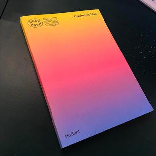 #latergram @schoolofartsgent #graduation publication #colors #gradient #graphicdesign