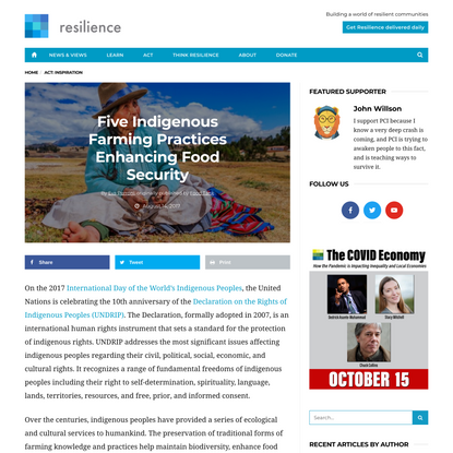 Five Indigenous Farming Practices Enhancing Food Security - Resilience