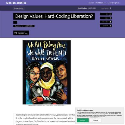 Design Values: Hard-Coding Liberation? · Design Justice